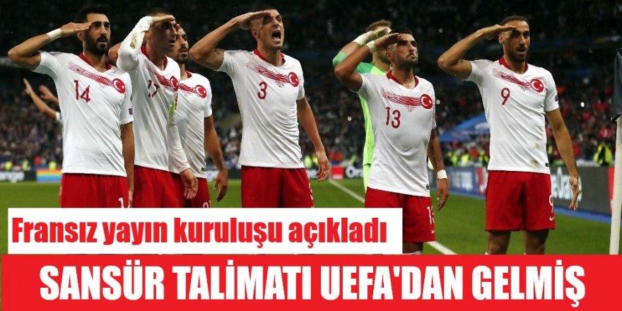 Fransız yayıncı kuruluş, UEFA talimatıyla Türkiye'nin gol sevincini yayınlamadıklarını açıkladı