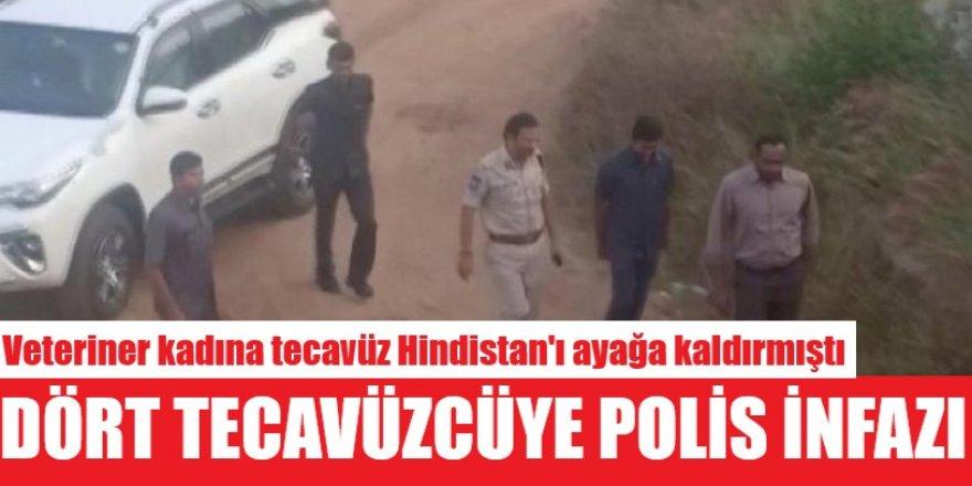 Hindistan polisi, veteriner kadına tecavüz eden 4 erkeği tatbikat sırasında öldürdü!