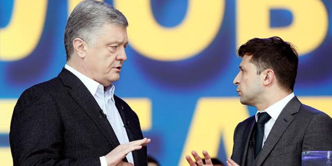 Ukrayna' da başkanlık seçiminde 2. tur; Komedyen ve rakibi mevcut başkan Poroşenko .