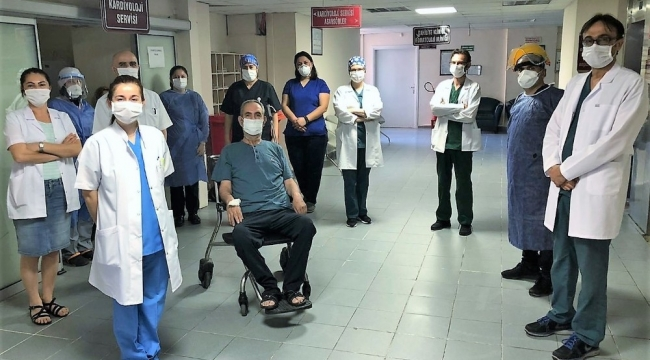 Aydın'da Kovid-19 tedavisinde bir ilk
