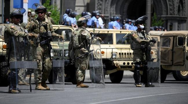 Washington'da Ulusal Muhafızlar sokaklarda
