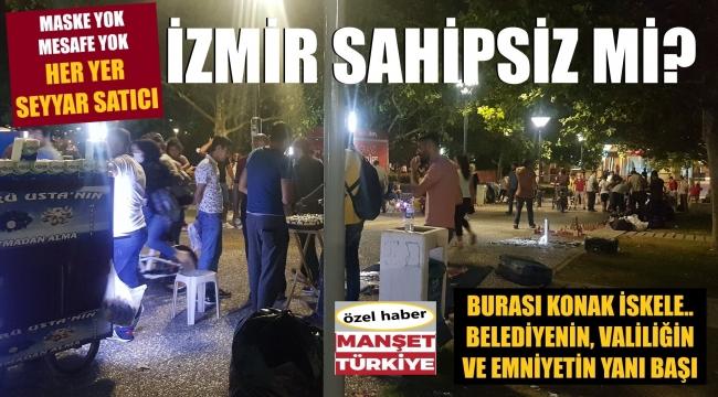 İzmir'in göbeğinde kötü görüntü!