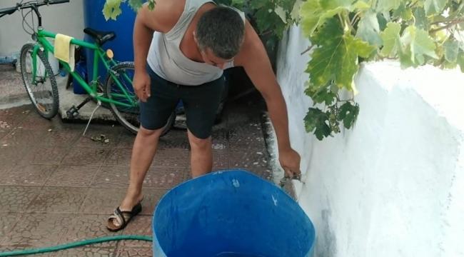 Tatil yerinde su sorununa vatandaşlardan tepki