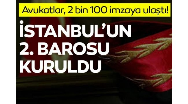 Ve İstanbul'a 2. baro