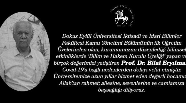 Etik Kurulu eski Başkanı Eryılmaz koronadan vefat etti