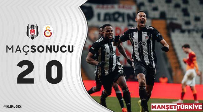 Lider Beşiktaş, Cimbom'u ağır yaraladı