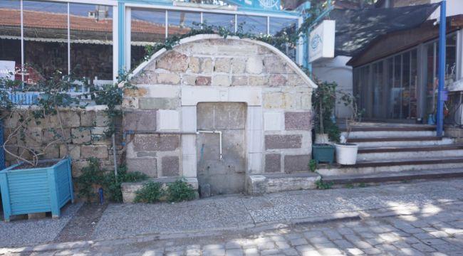 Foça'da tarihi çeşmeler ilgisiz kaldı