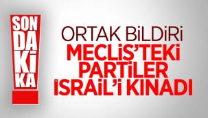 Bütün partiler Filistin'e destek bildirisi yayınladı