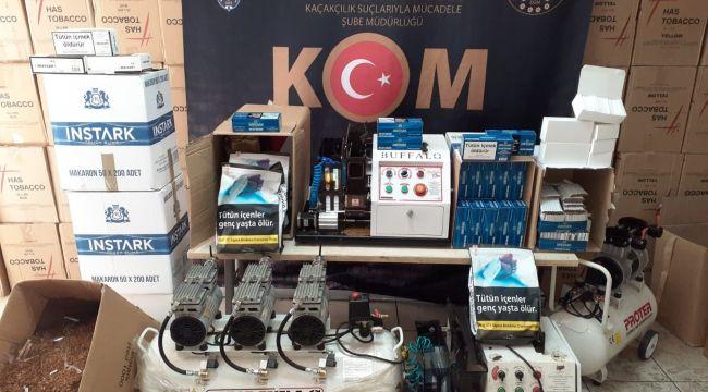 İzmir'de kaçak sigara ve alkol üreticilerine darbe