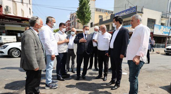 Başkan Batur, Gıda Çarşısı esnafı ile buluştu