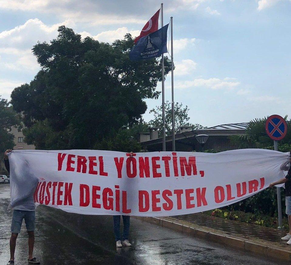 Göztepe'de alayına isyan