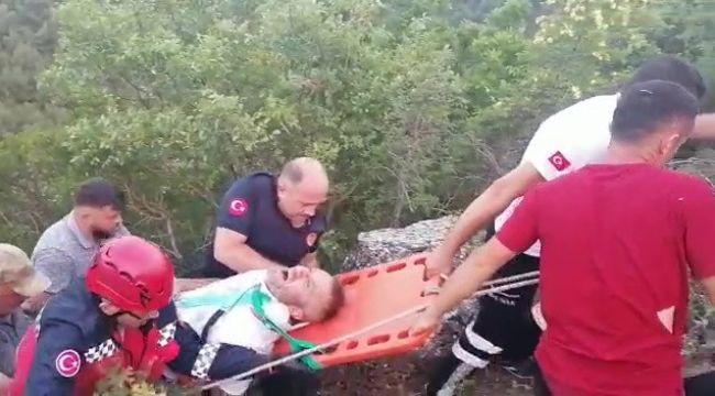 3 yaşındaki çocuk otomobili uçuruma yuvarladı: 3 yaralı