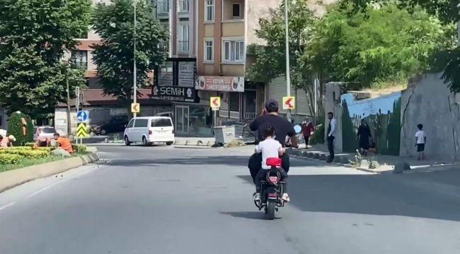 Baba ve kızın tehlikeli yolcuğu kamerada