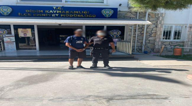 Çalıntı motorla Didim'de gasp yapan kişi tutuklandı