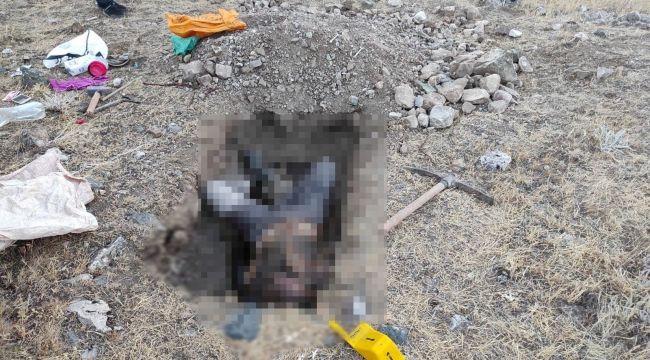 Cesedi 9 gün sonra kazdığı çukurda bulundu