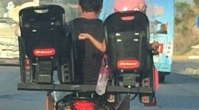 Antalya'da trafikte akıl almaz görüntü