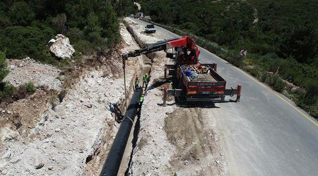 Çeşme'nin suyu yolda: 14 km'lik ana iletim hattı tamamlandı