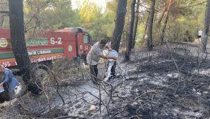 Sarnıç'taki yangın söndürüldü
