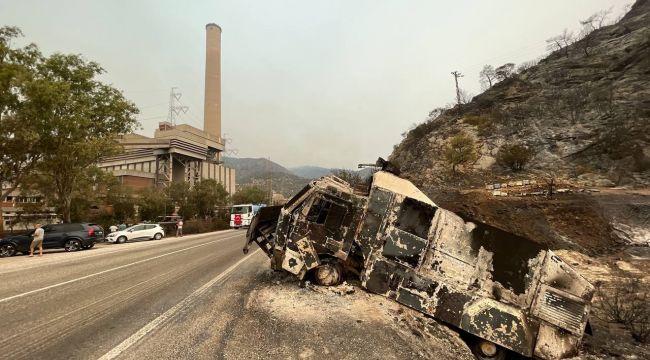 Yangından sonra Termik Santral bölgesi