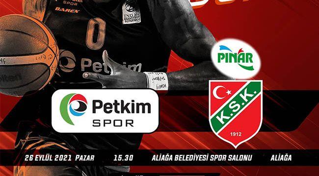 Aliağa Petkim Spor ve Pınar Karşıyaka karşılaşması