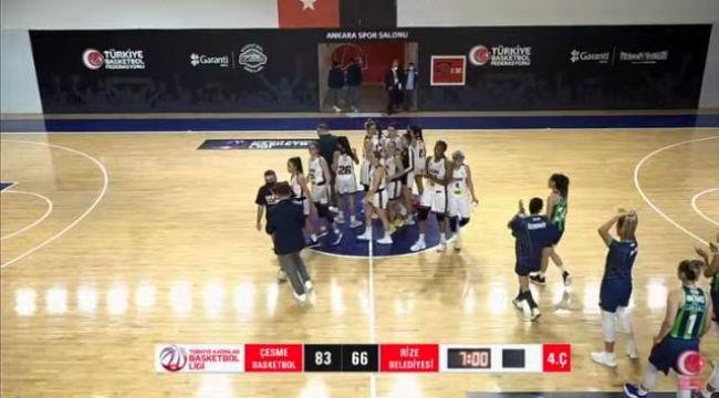 Federasyon Kupası'nın ilk maçını Çeşme Basketbol kazandı