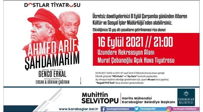 """Genco Erkal """"Ahmed Arif-Şahdamarım"""" ile Karabağlar'da"""