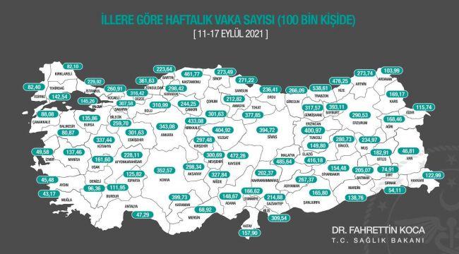 Güvenli kentlerden Aydın'da vaka sayısı artıyor