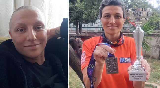 Kanseri yendi, yarı maraton kazandı