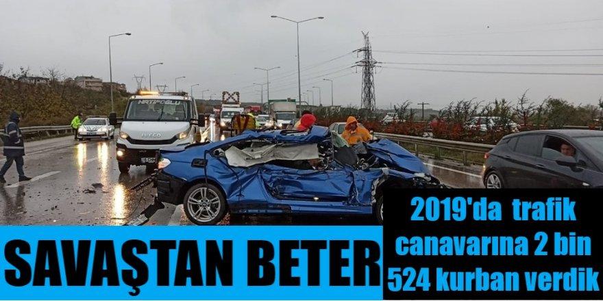 2019'un en acı bilançosu...Yollarda 2 bin 524 kişi hayatını kaybetti