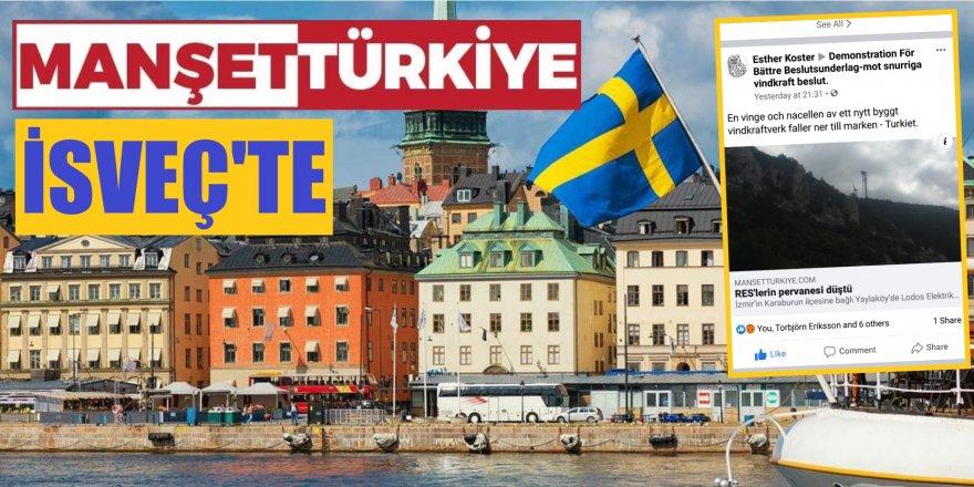 İsveçli çevreciler, Manşet Türkiye'nin haberini paylaştı