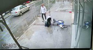 Belediyenin kiralık bisikletiyle hırsızlık
